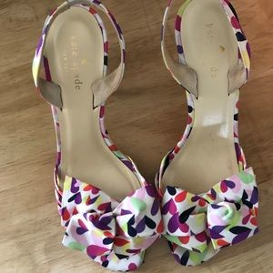Kate Spade sandals with bow